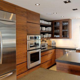 Cuisine moderne en bois.