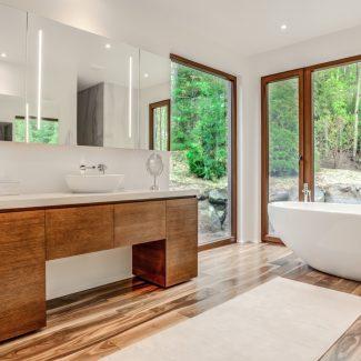 Salle de bain contemporaine réalisée par Ateliers Jacob