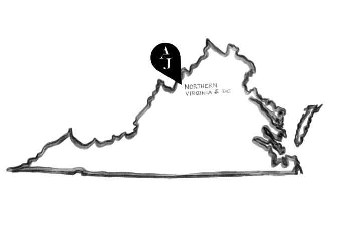 Illustration de l'état de la Virginie où se retrouve une succursale de Ateliers Jacob